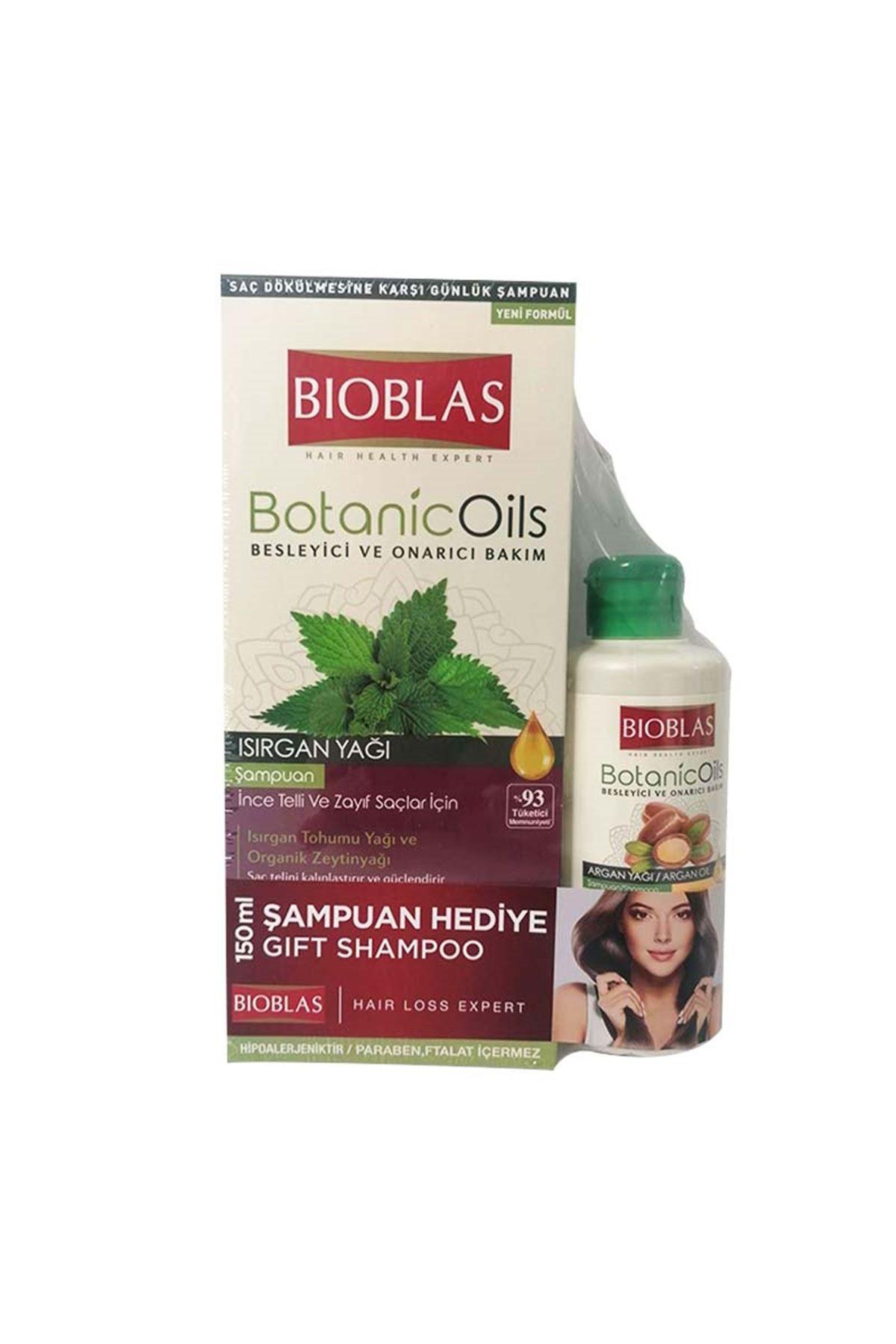 Bioblas Isırgan Şampuan 360 ml + Argan Şampuan 150 ml