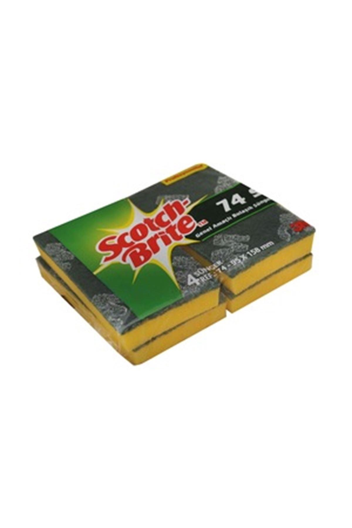 Scotch Brite Endüstriyel Bulaşık Süngeri 4'lü (SB74)