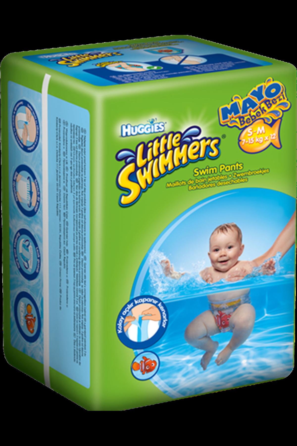 Huggies Mayo Bebek Bezi'little Swimmers 3-4 Beden 7-15 Kg 12 Adet