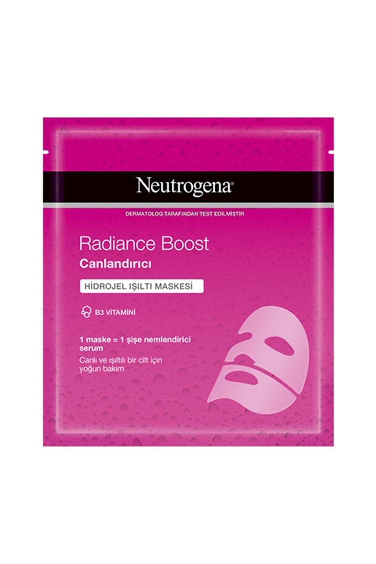 Neutrogena Radiance Boost Canlandırıcı Hidrojel Işıltı Maskesi 30 ML