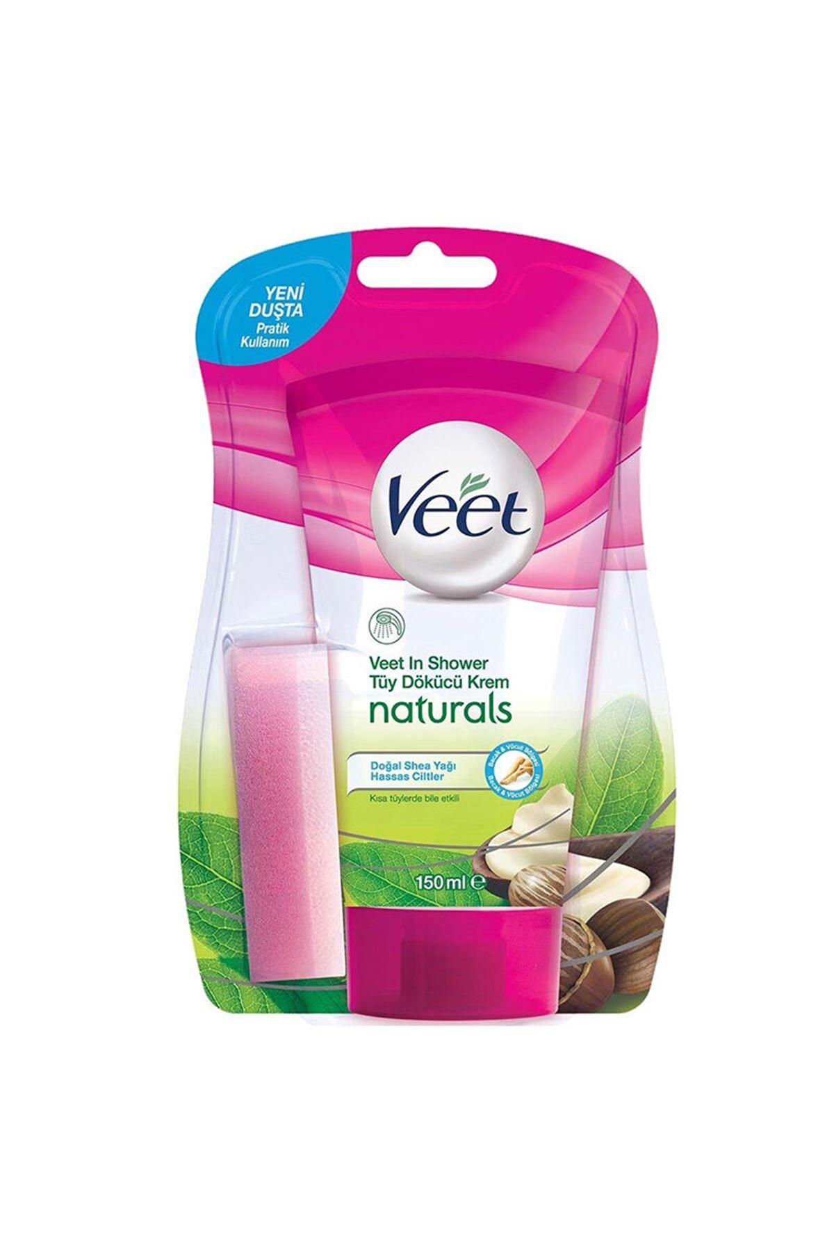 Veet Naturals Shea Yağı Hassas Ciltler İçin Tüy Dökücü Duşta Krem 150 ml