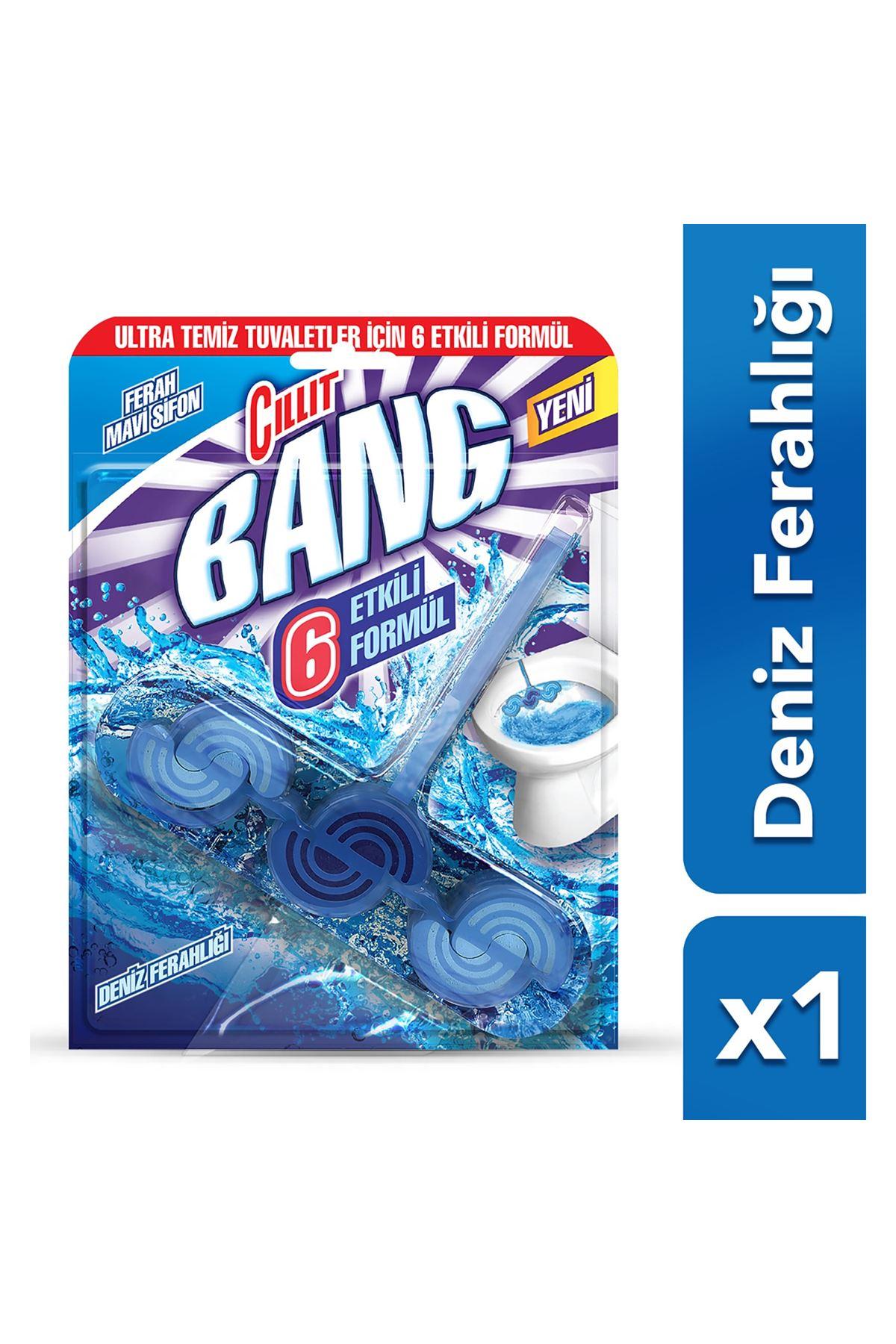 Cillit Bang Tuvalet Temizleyici Premium Tablet Mavi Tekli ( Deniz Ferahlığı)