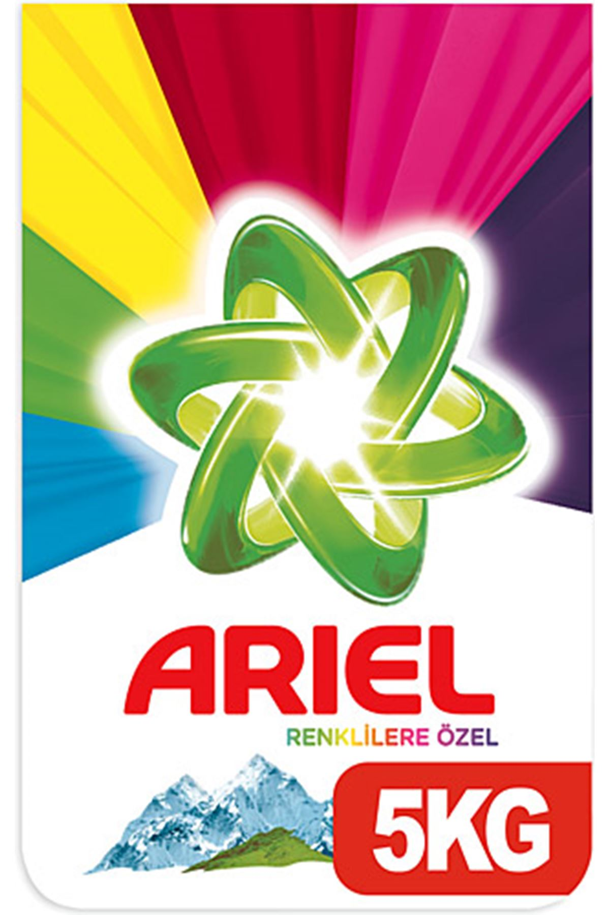 Ariel 5 kg Toz Çamaşır Deterjanı Dağ Esintisi Renkliler İçin
