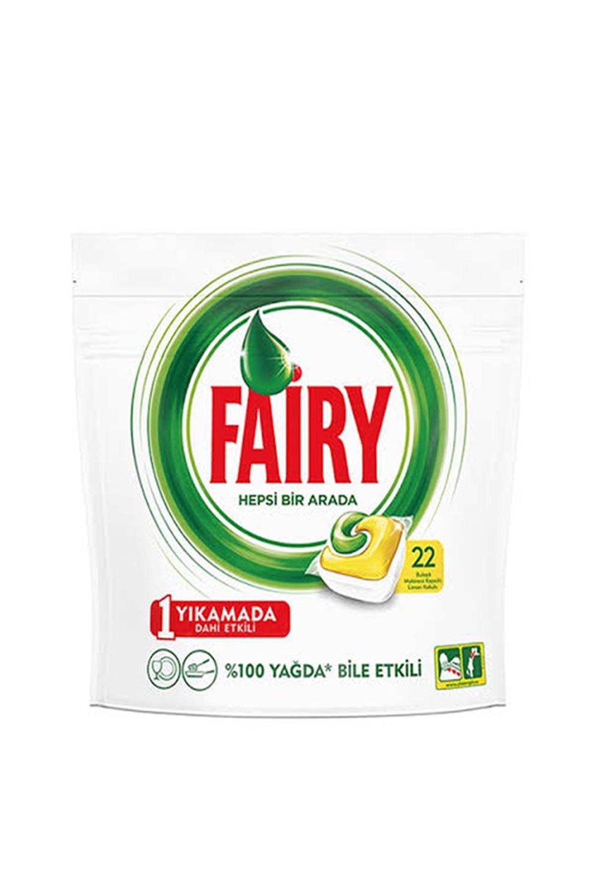 Fairy Hepsi Bir Arada Bulaşık Makinesi Deterjanı Kapsülü 'limon Kokulu' 22 Tablet