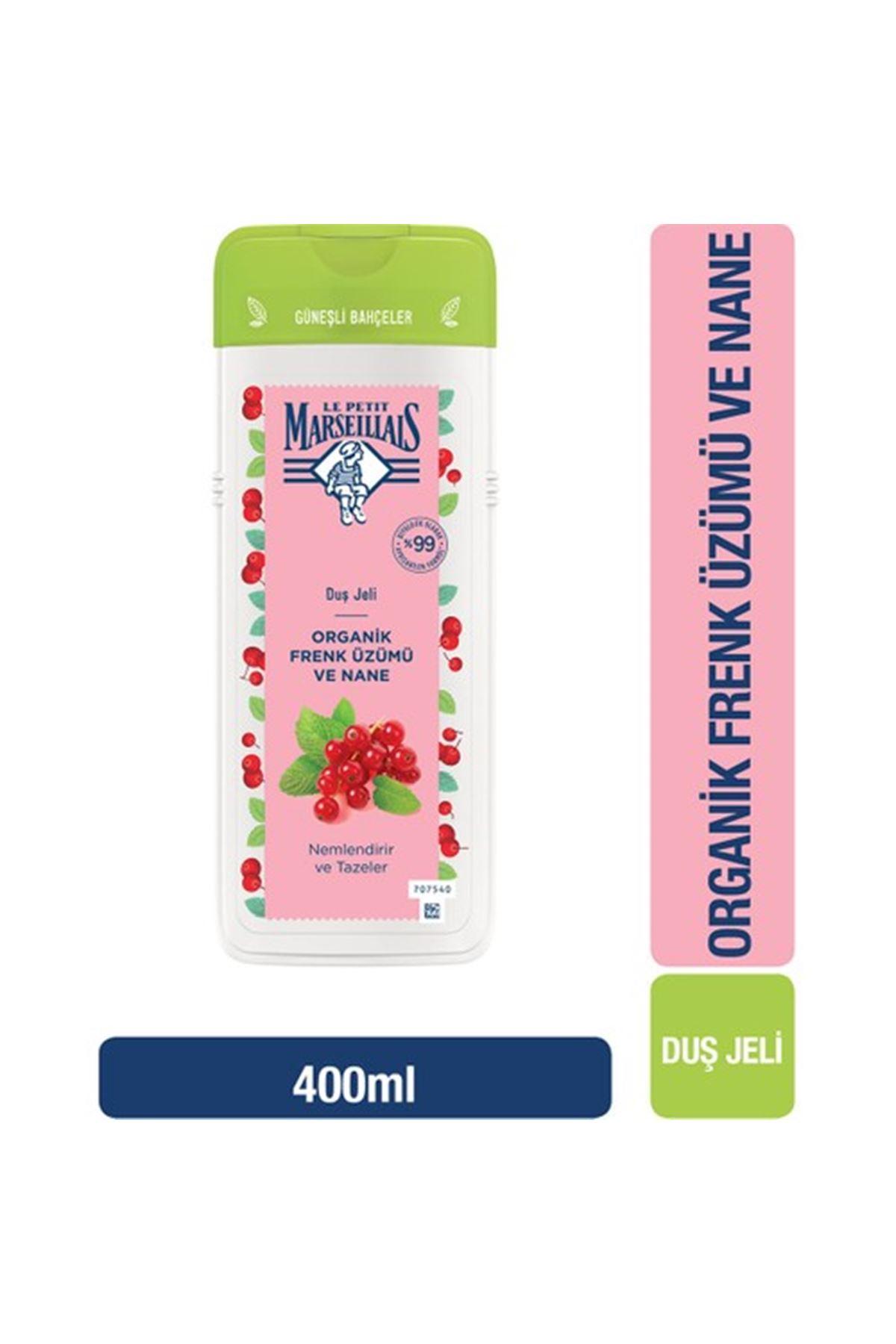 Le Petit Marseillais Organik Frenk Üzümü ve Nane Duş Jeli 400 ml