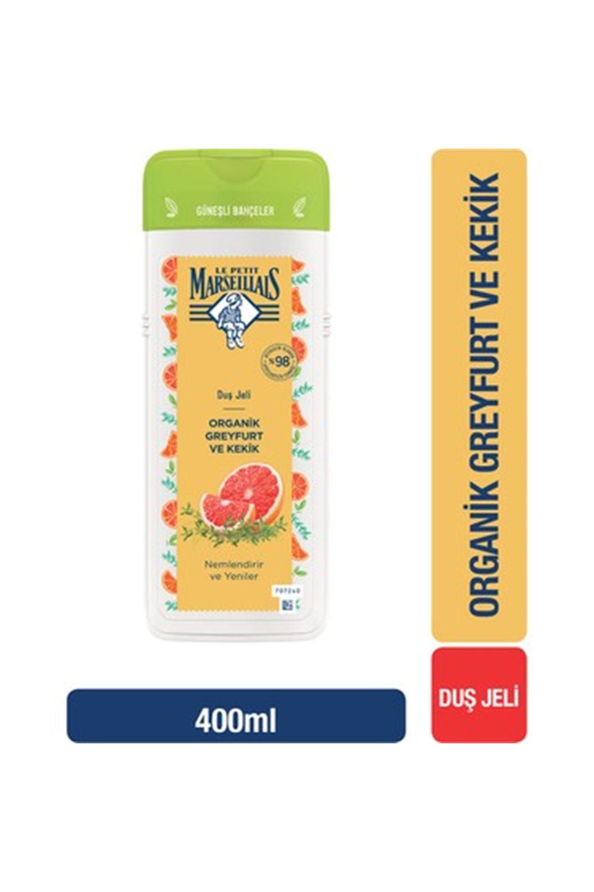 Le Petit Marseillais Organik Greyfurt ve Kekik Duş Jeli 400 ml