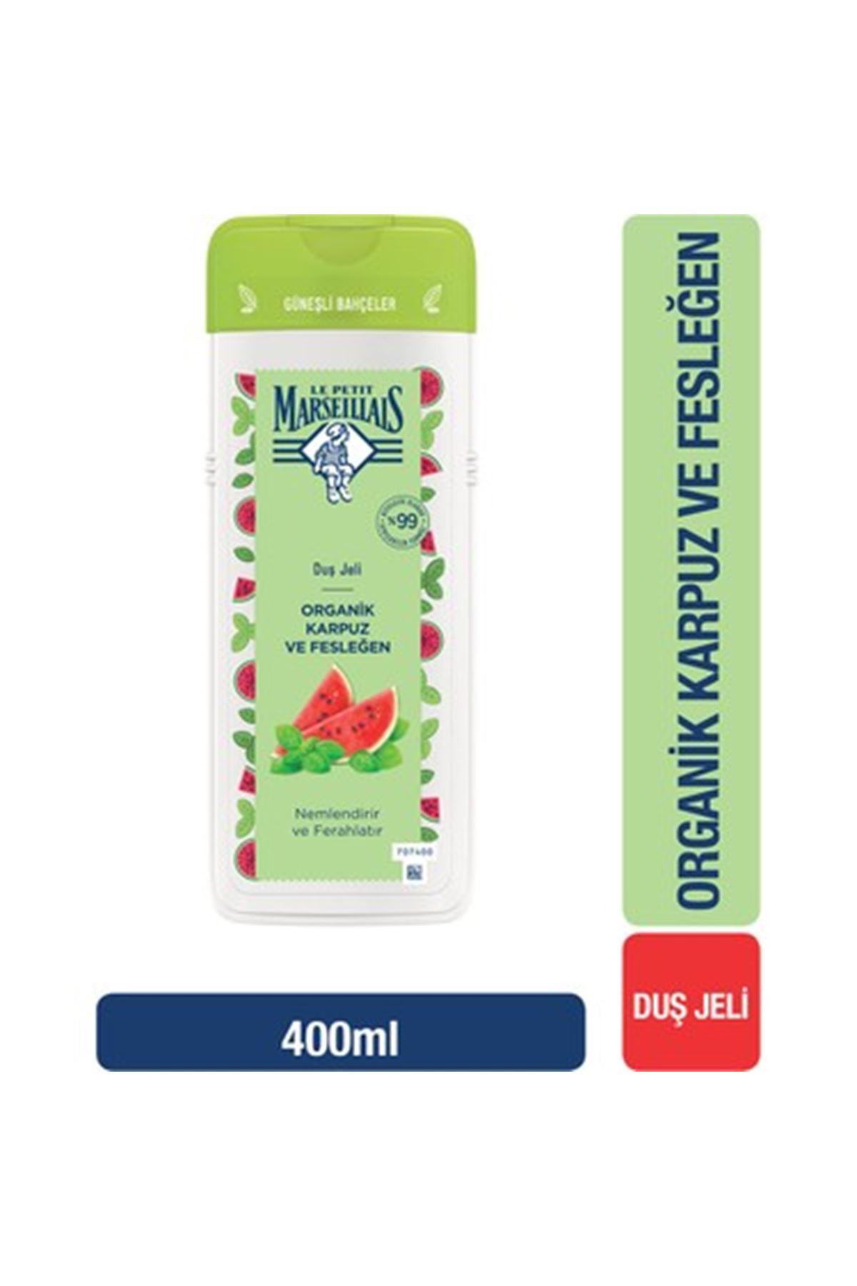 Le Petit Marseillais Organik Karpuz ve Fesleğen Duş Jeli 400 ml