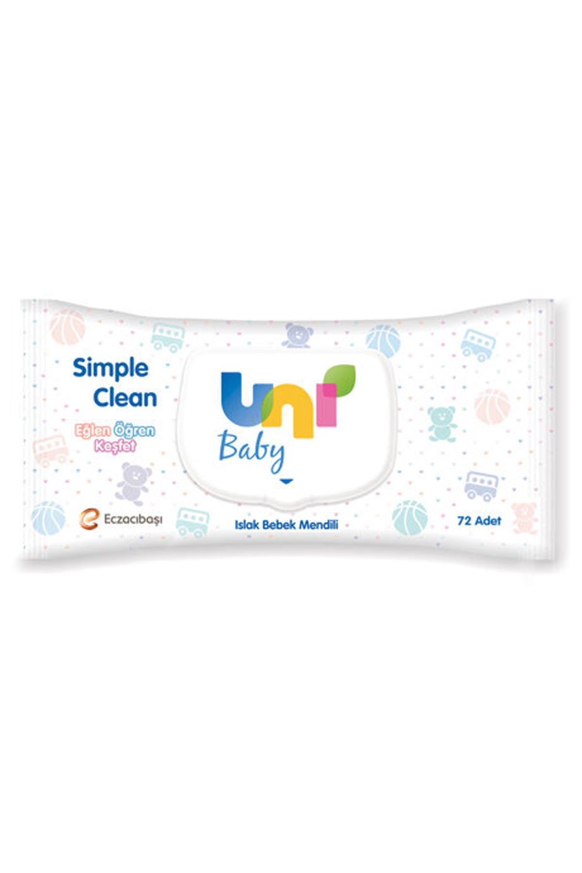 Uni Baby Islak Havlu Simple Clean 72'li