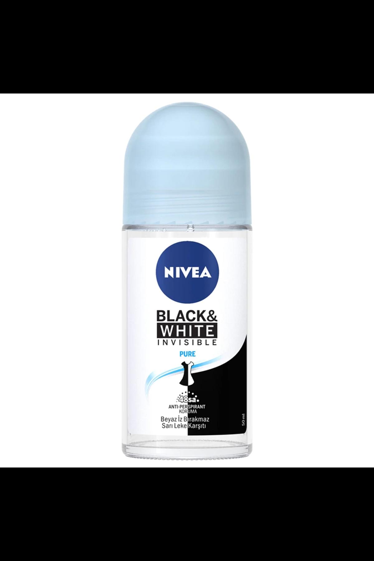 Nivea Invisible Black & White Pure Kadın Roll-On 50 Ml