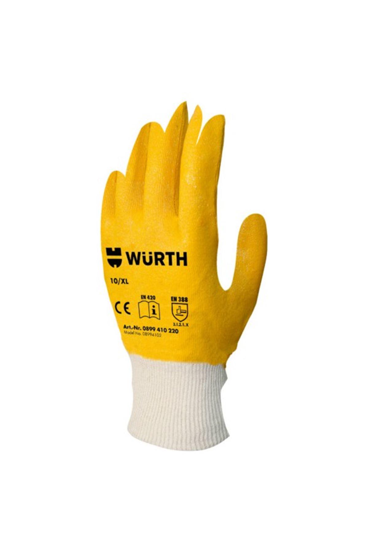 Würth Iş Güvenliği Eldiveni Nitril Sarı 10
