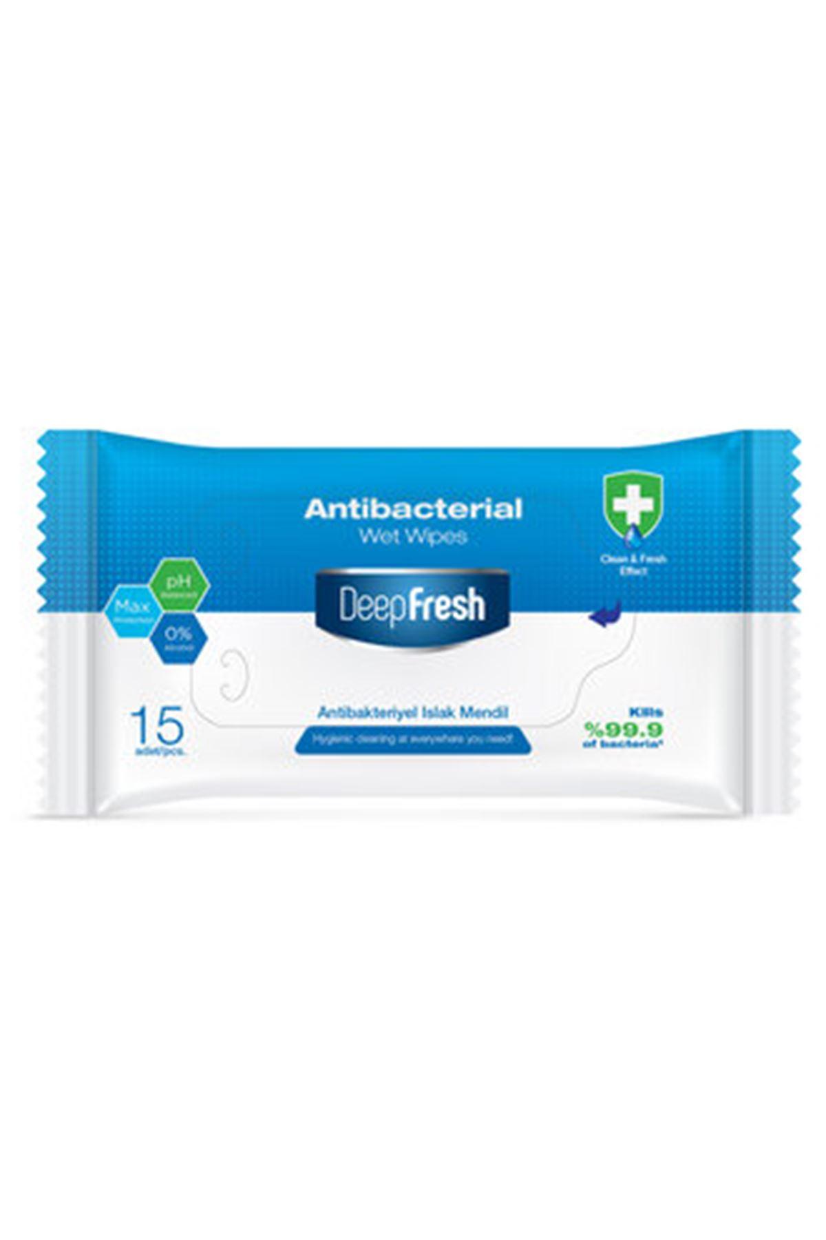 Deep Fresh Antibakteriyel Islak Cep Mendili 15'li