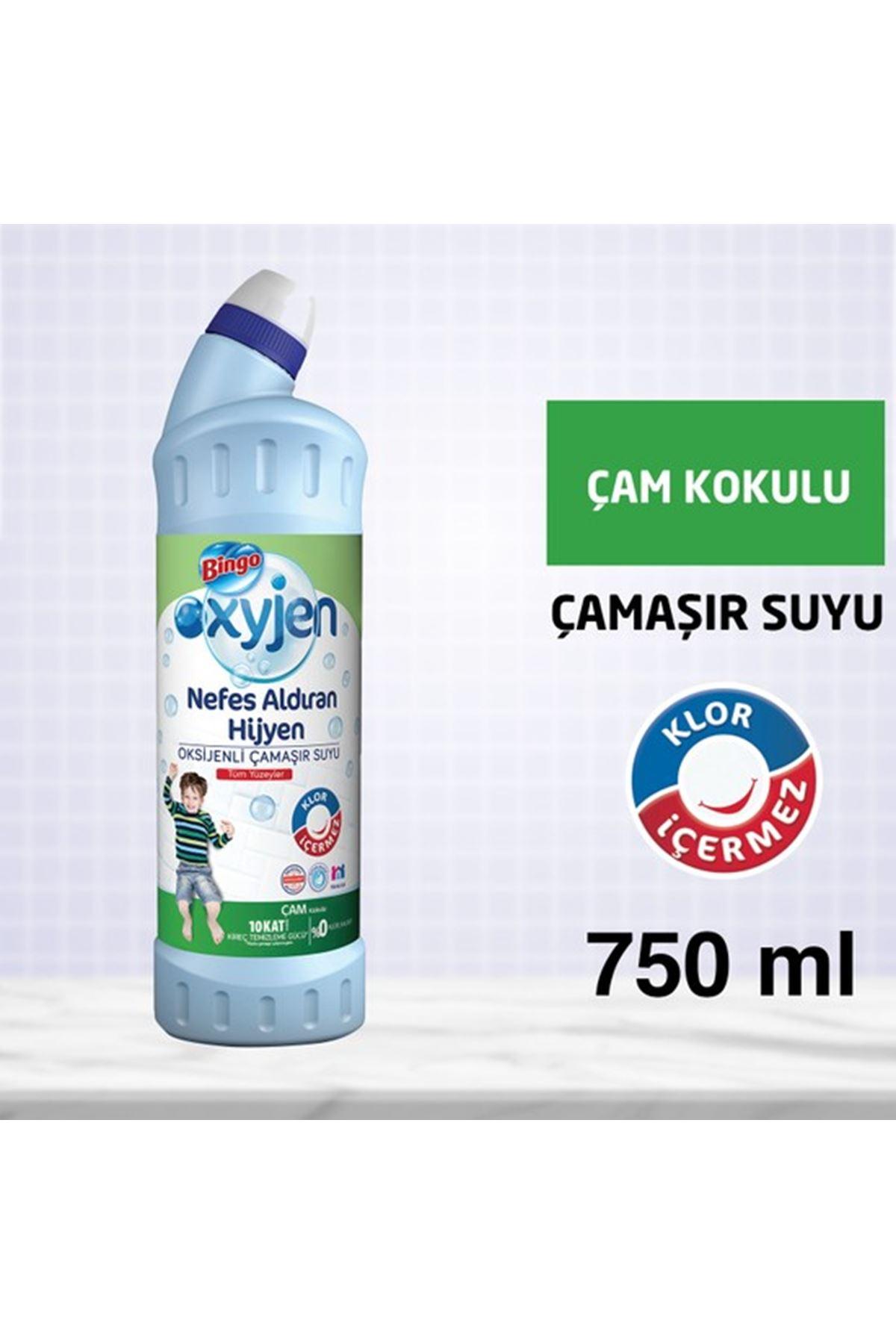 Bingo Oksijen Çamaşır Suyu 750 Ml Çam Kokulu