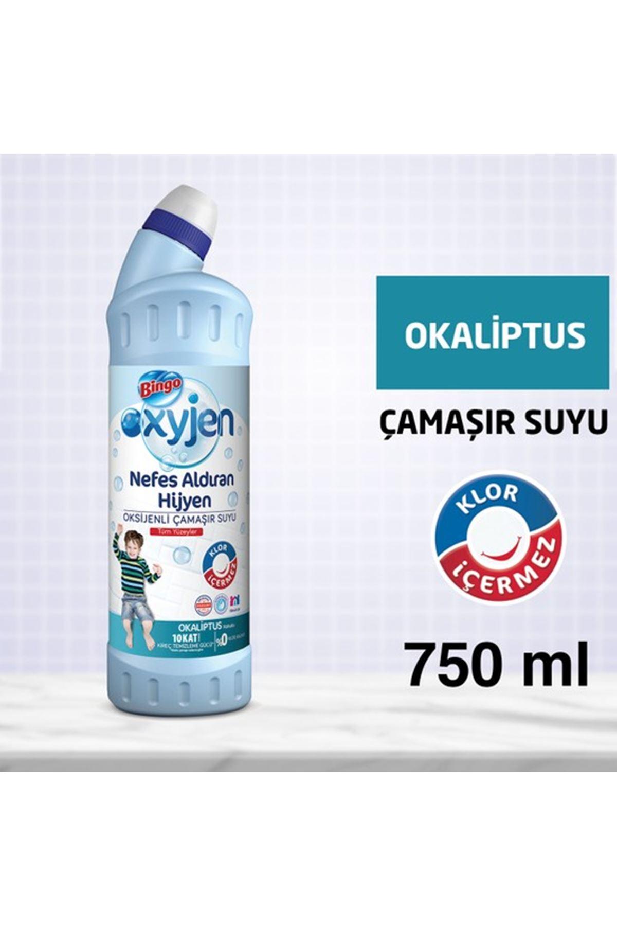 Bingo Oksijenli Çamaşır Suyu Okaliptüs 750 ml