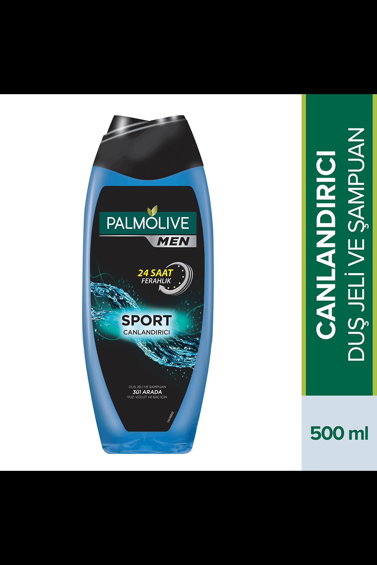 Palmolive Men Sport 3'ü 1 Arada Canlandırıcı Duş Jeli 500 Ml