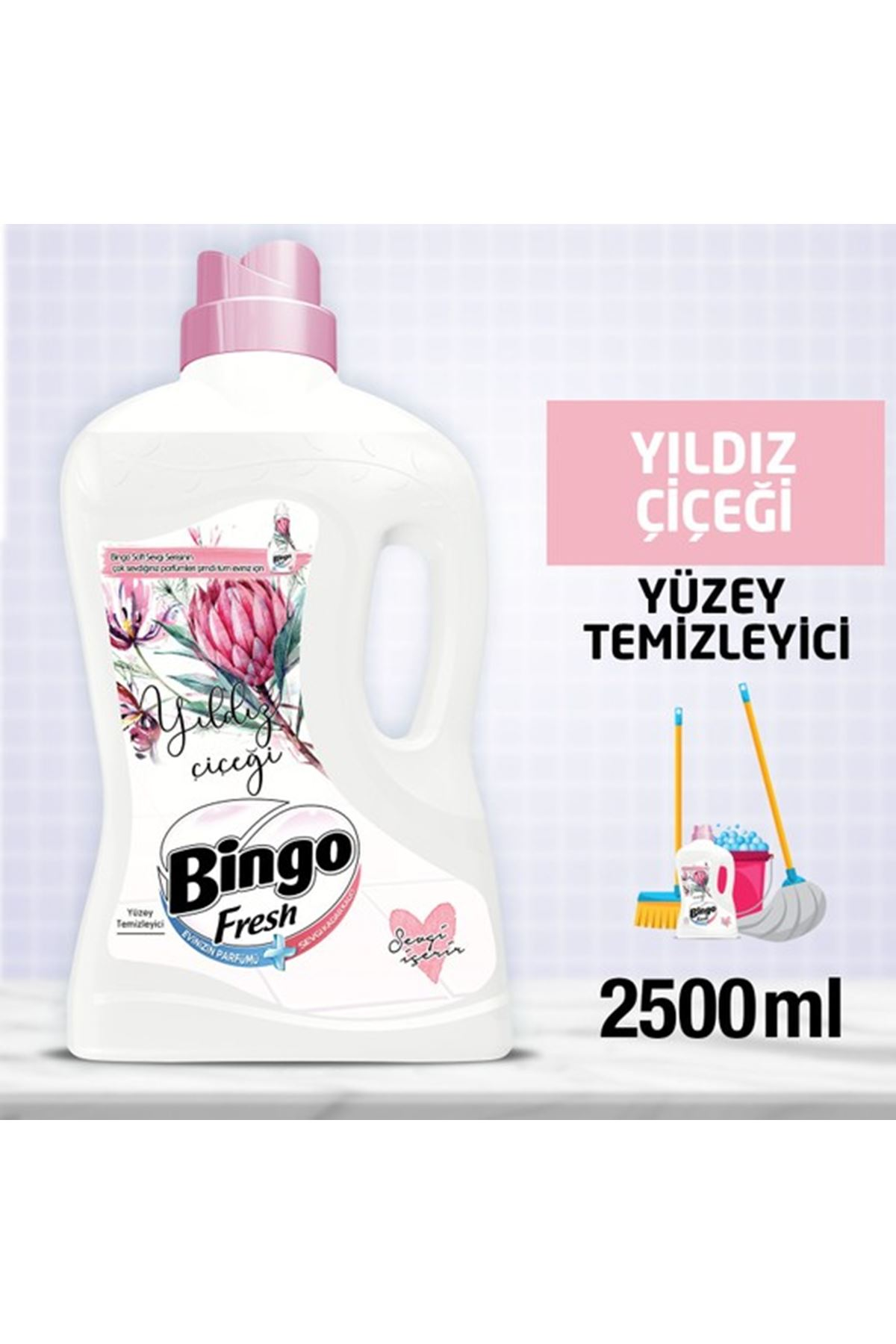 Bingo Fresh Yıldız Çiçeği Yüzey Temizleyici 2,5 lt