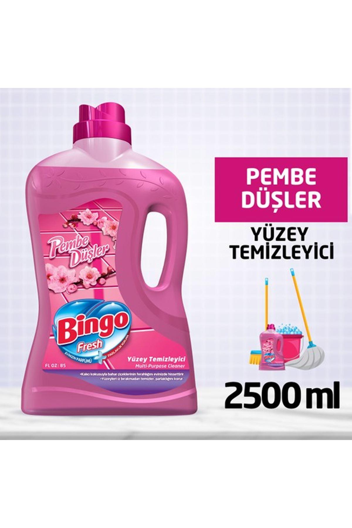 Bingo Fresh Pembe Düşler Yüzey Temizleyici 2,5 lt