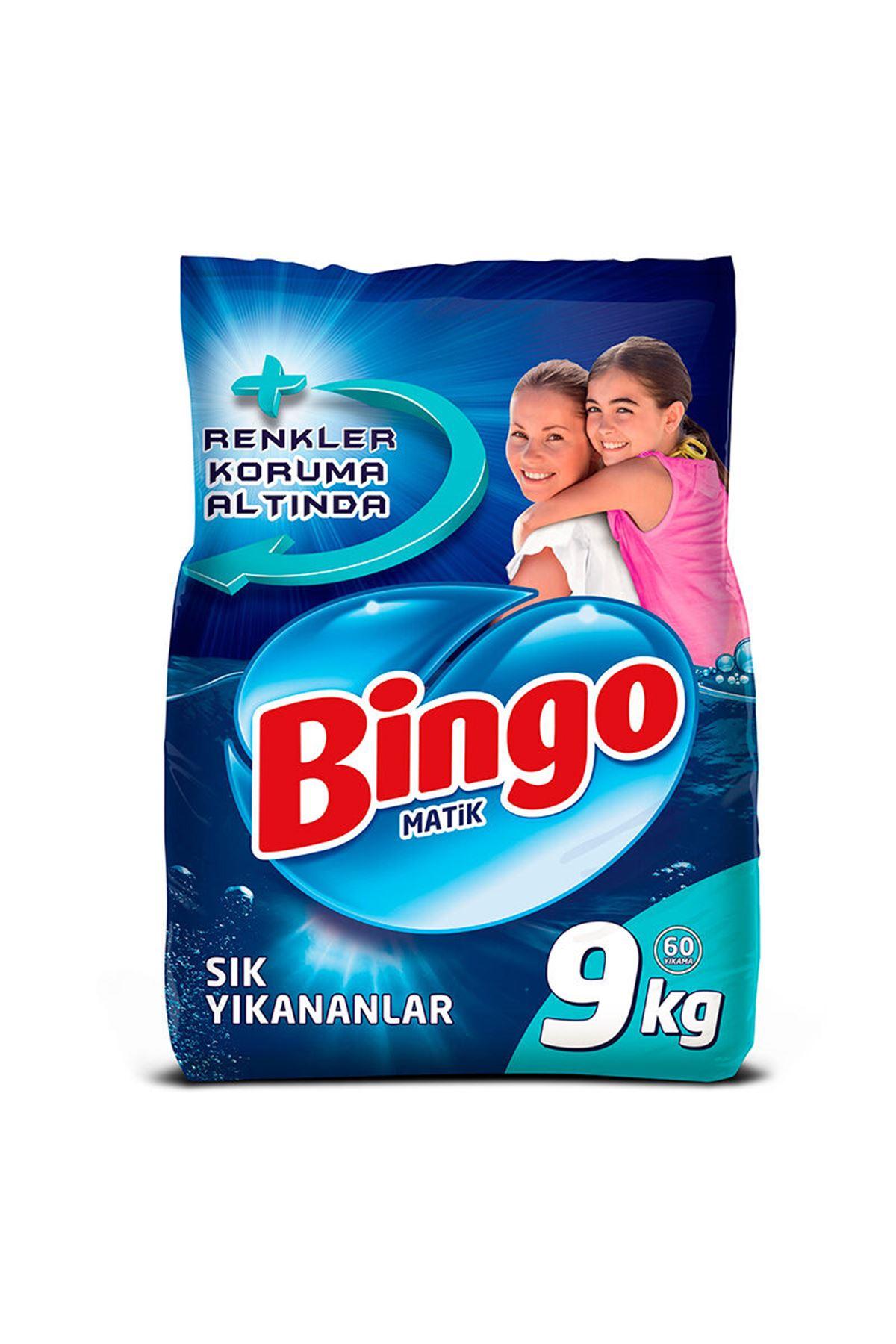 Bingo Matik Çamaşır Deterjanı Sık Yıkananlar 9 Kg