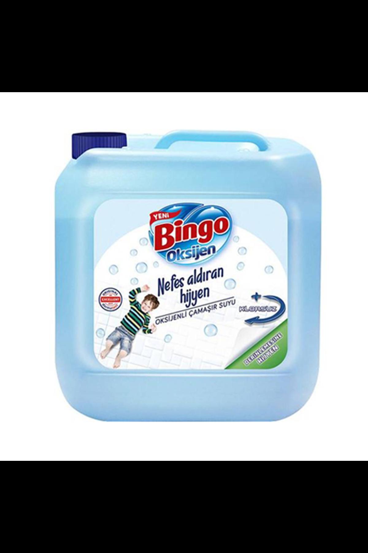 Bingo Oksijen Çamaşır Suyu Parfümsüz 3240 Ml