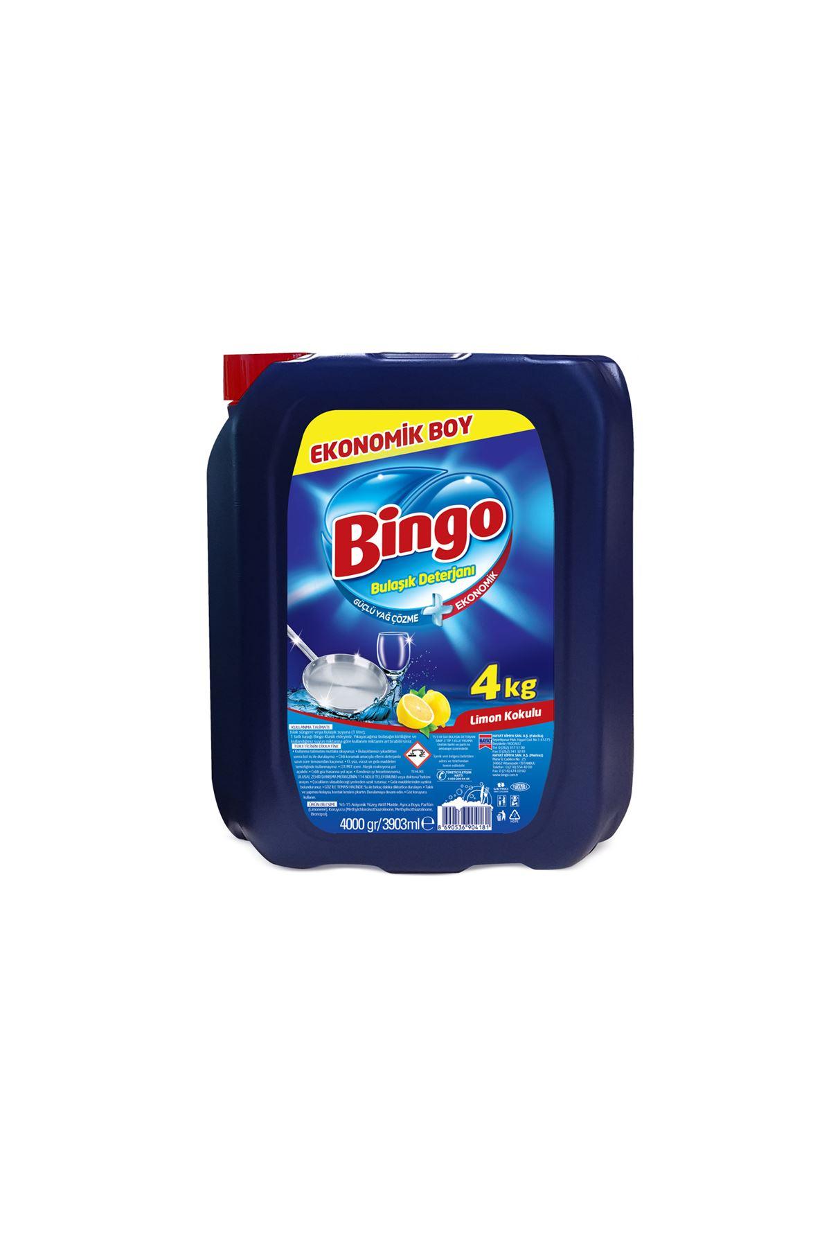 Bingo Sıvı Bulaşık Deterjanı Limon 4 Kg
