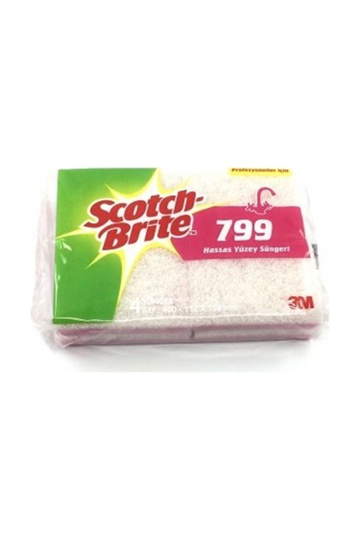 Scotch Brite  Hassas Yuzey Temızlık Sungerı Pembe 4' lü (SB799)