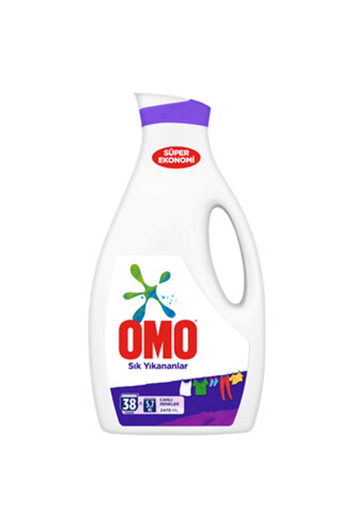 Omo Sıvı Çamaşır Deterjanı Sık Yıkananlar 2470 ml