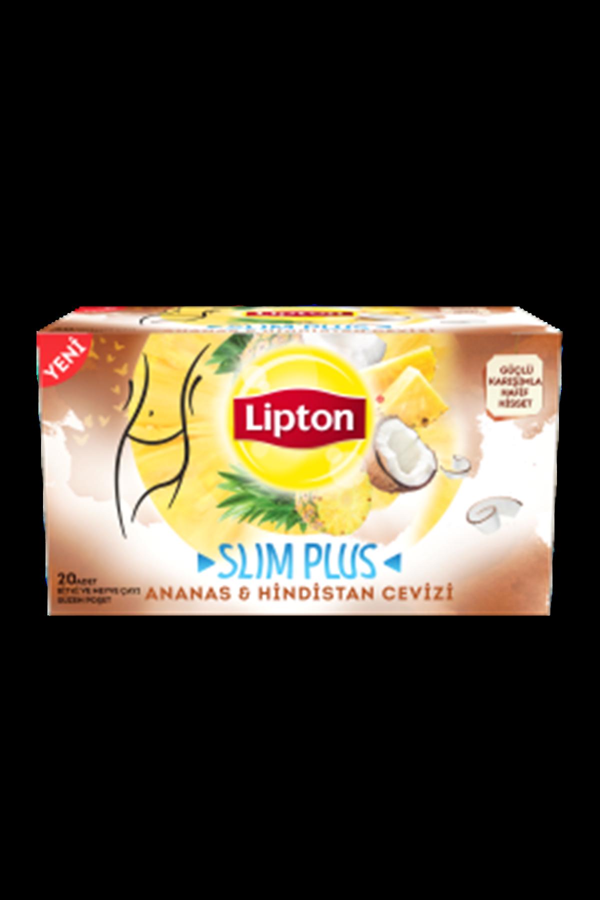 Lipton Slım Plus Ananas Ve Hindistan Cevizi 20 Adet