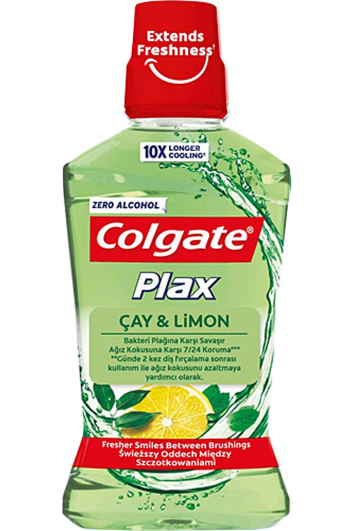 Colgate Plax Çay ve Limon Alkolsüz Ağız Bakım Suyu 500 ml