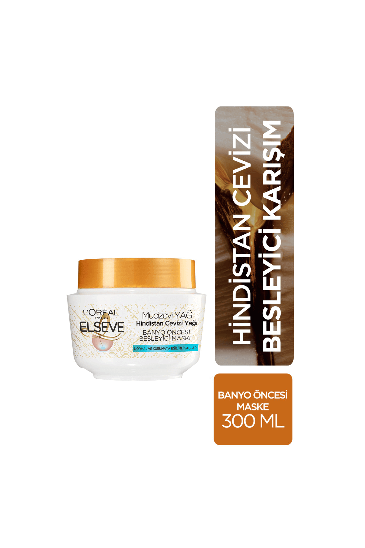 L'Oreal Paris Elseve Hindistan Cevizi ve Değerli Yağlar Banyo Öncesi Saç Maskesi 300 ml