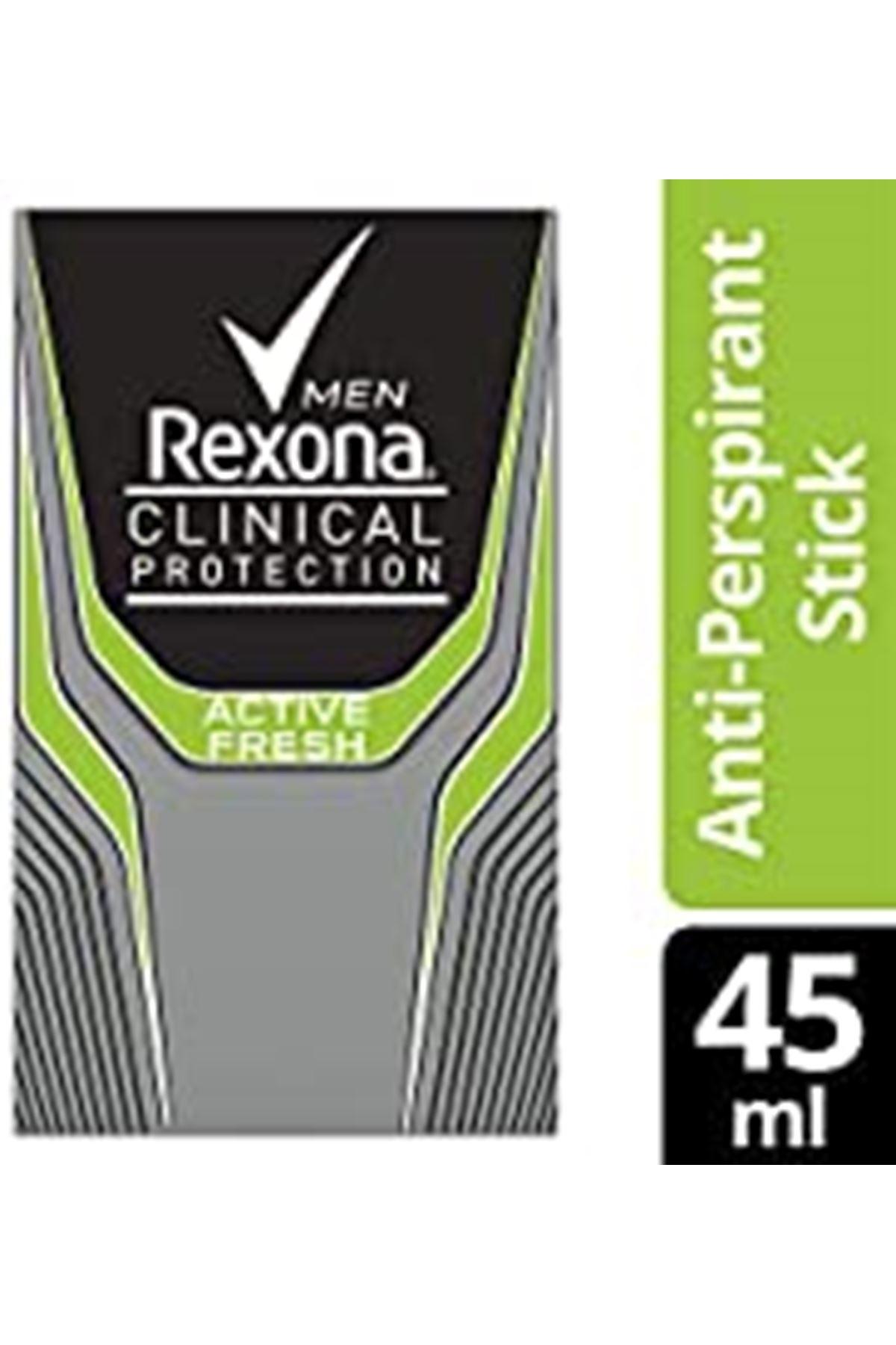 Rexona Erkek Clinical Protection Deodorant Stick Active Fresh 45 ml