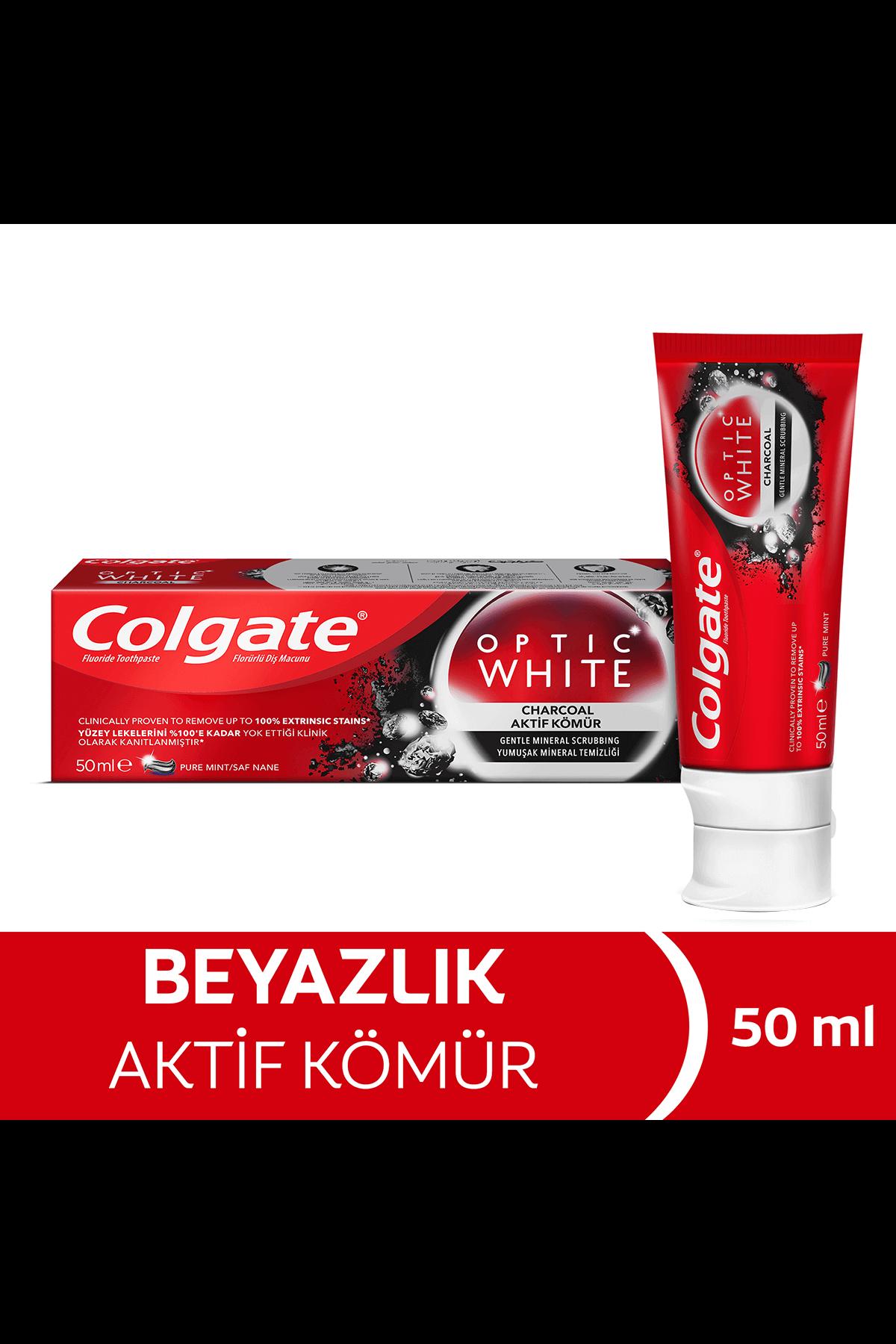 Colgate Optik White Diş Macunu Aktif Kömür 50 ml
